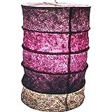 Guru-Shop Suspension en Papier Rond, Abat-jour en Papier Lokta Everest, Papier Fait Main - Violet, PapierLokta, 40x28x28 cm,