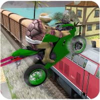 Super Hero Bike Highway Stunts