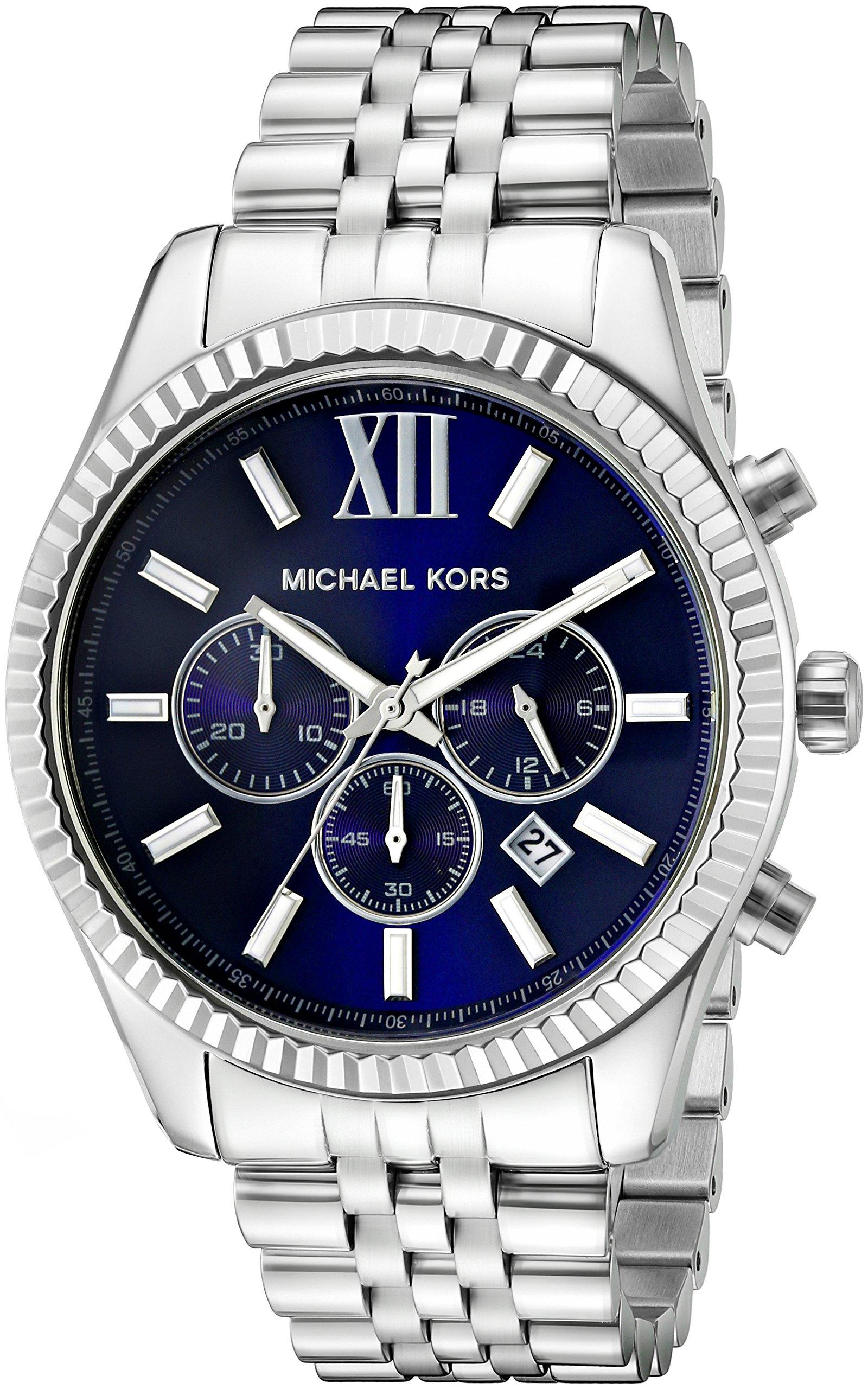 Michael Kors MK8280 – Reloj con correa de piel para hombre