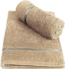 Story@Home 100% Cotton Soft Towel Set of 2 Pieces, 450 GSM - 2 Hand Towels - Biege