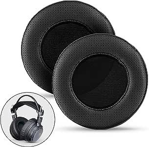 Brainwavz Coussinets de rechange en mousse à mémoire de forme pour casque Sennheiser, AKG, HifiMan, ATH, Philips, Fostex, Sony Taille XL large Perforé