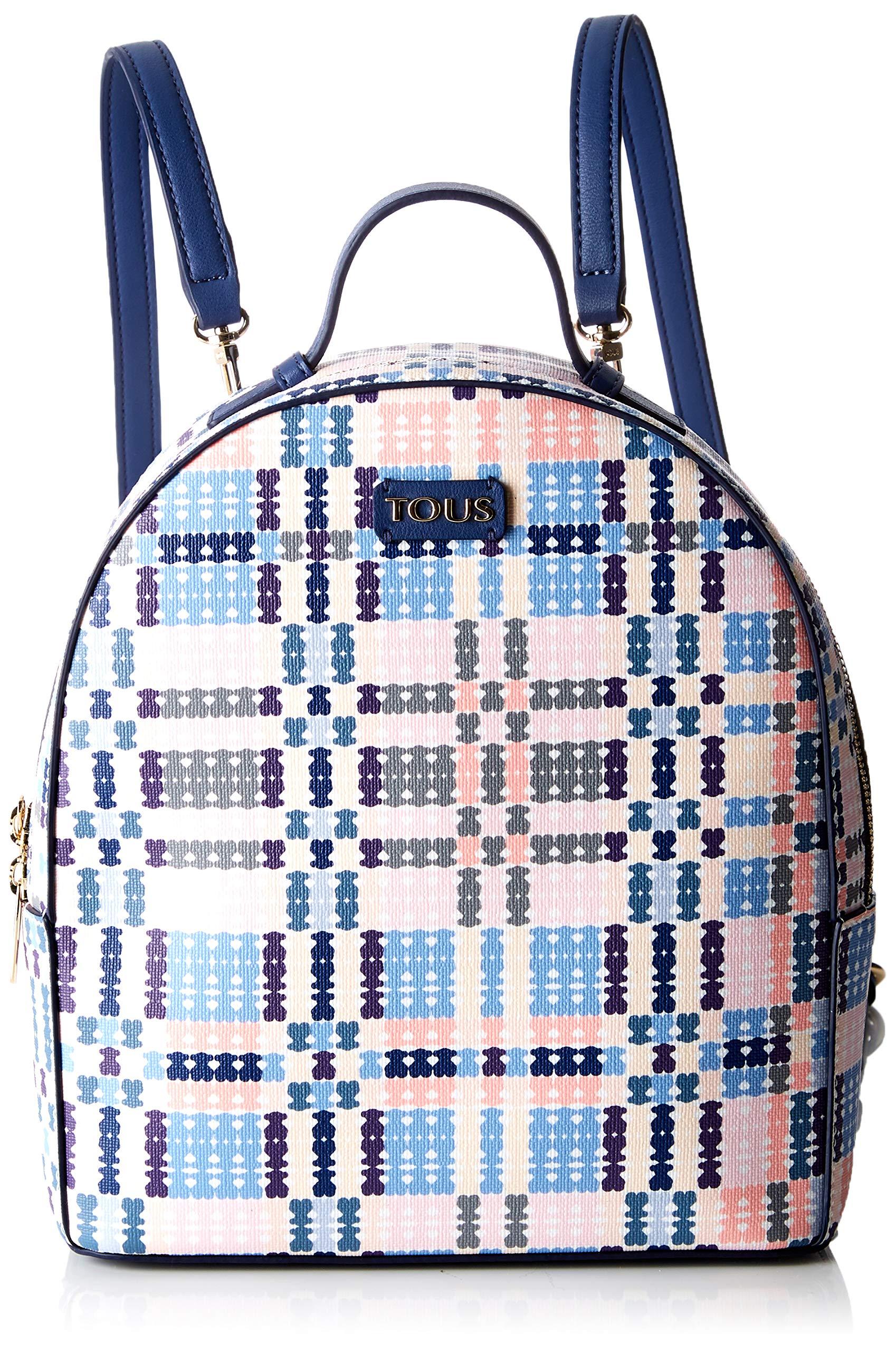 91SiJOBdHSL - Tous 995800183, Bolso mochila para Mujer, Azul (Azul), 21x25x9 cm (W x H x L)