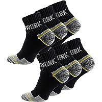 Cotton Prime 6 Paia calzini lavoro uomo rinforzati tallone e punta ideale per calzature Antinfortunistiche e/o…
