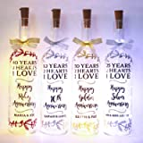 Personalised Wedding Anniversary Gifts, Pick Your Year, Bottle Light For Couples