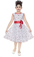 YAYAVAR Girl's Cotton Floral Printed Frock