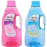 Nayasa Superplast Plastic Fontana PET Bottle 1.5 Litre, Set of 2, Pink and Blue