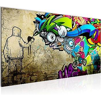 9f6d9e8d5b99a3 Bilder Graffiti Streetart Wandbild Vlies - Leinwand Bild XXL Format  Wandbilder Wohnzimmer Wohnung Deko Kunstdrucke Bunt 1 Teilig - MADE IN  GERMANY - Fertig ...
