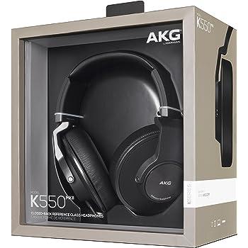 AKG K550 MKII Premium Geschlossener Hochleistungs-Over-Ear Kopfhörer mit 2D-Axis Faltmechanismus und AKG-Referenzsound mit Geräuschisolierung Kompatibel mit Apple iOS und Android Geräten - Schwarz