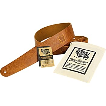 Leather Guitar Strap – 100% Beef by Bison Boa CUSTOM - Blade Made in the UK from 100% Full-grain Italian Leather