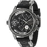 Police Mens Multi dial Quartz Watch with Silicone Strap 14536JQ02P