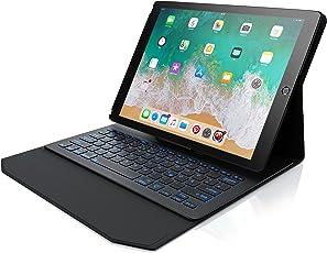 CSL - iPad Pro 12,9 Zoll Tastatur mit Hintergrundbeleutung | Schutzhülle/Tasche/Cover/Case | Lightweight Design | Multimedia-Funktionstasten | QWERTZ-Layout (Deutsch) | Rainbow Tastenbeleuchtung