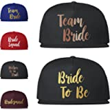 Team Bride Caps Baseball Snapback Hen Party Night Hats Bride To Be Crew Squad Tribe