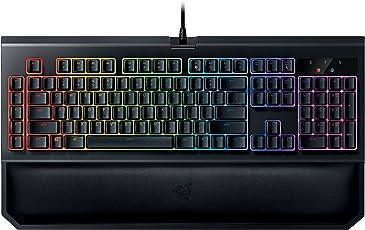 Razer Blackwidow Chroma V2 Taktile & Klickende Mechanische Gaming Tastatur Green Switches, RGB Beleuchtet & voll programmbierbar mit 5 Macrotasten(QWERTZ-Layout)