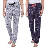 Real Basics Women's Cotton Pyjamas & Lounge Pants(Pack of 2)