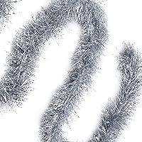 Guirlandes Sapin De Noel (Lot de 3) - Decoration Noel Sapin Environ 2 Mètres - Guirlandes de Noel Argentées pour Noël…