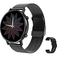 RIGHT TECHNOLOGY SCHARM Smartwatch für Damen,1.3 Zoll Touch-Farbdisplay. Fitness Armbanduhr mit Pulsuhr Fitness Tracker…