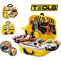 Popsugar Kids Tool Set for Toddlers, Tools Kit for Boy and Girls, Construction Toys Playset for Kids
