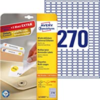 Avery Zweckform L4730REV-25 Universal Labels 17.8 x 10 mm 25 Sheets / 6750 Labels / White