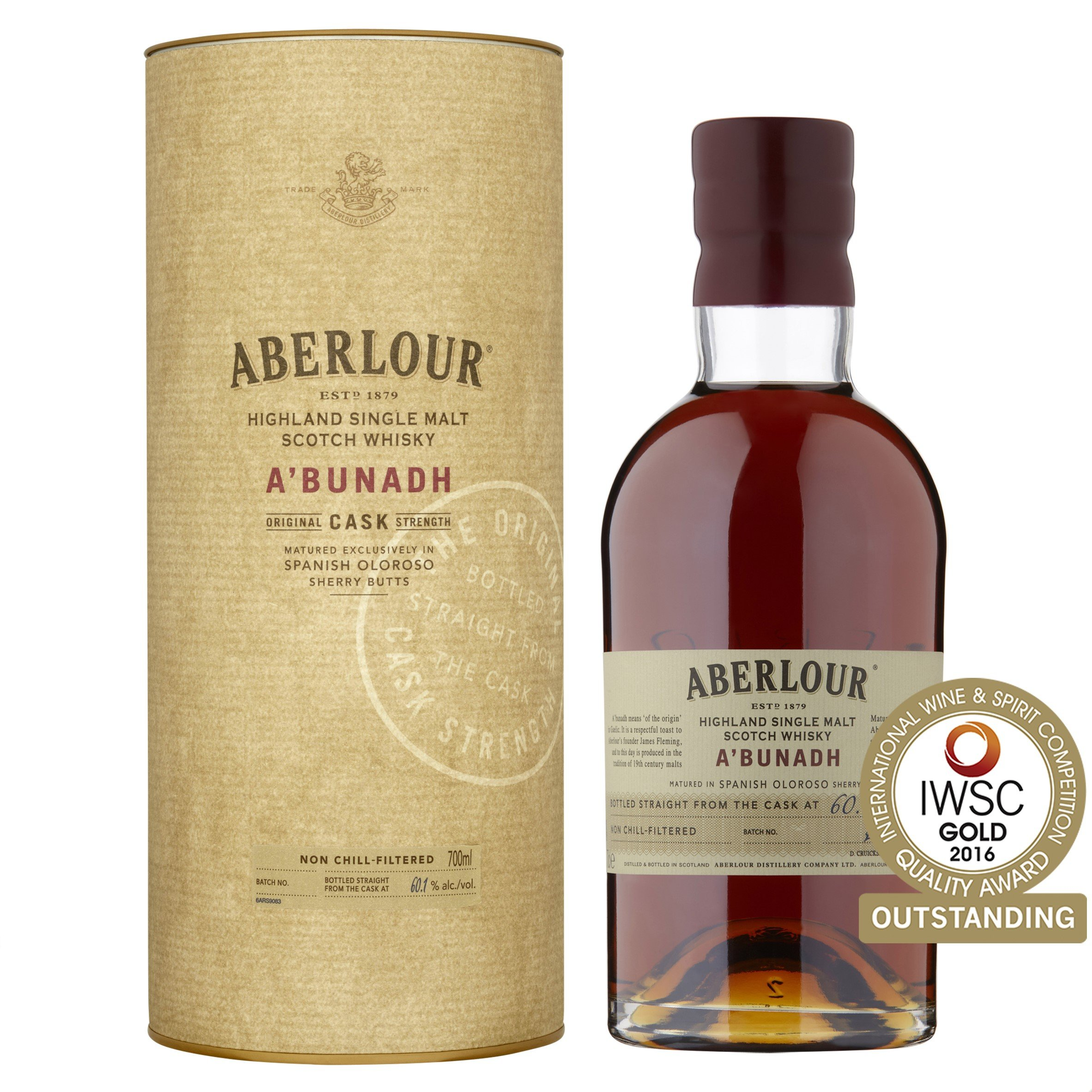 Aberlour A'Bunadh Single Malt Scotch Whisky, 70cl (Batch numbers may vary)