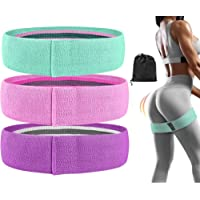 FEGSY Fabric Resistance Loop Bands for Exercise, and Workout Non Slip Hip Booty Bands for Squats, Legs, Thigh, Glutes…