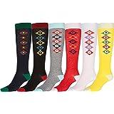 Sakkas - Pack de 6 calcetines de diseño ideal y de altura hasta la rodilla (de pack 6)