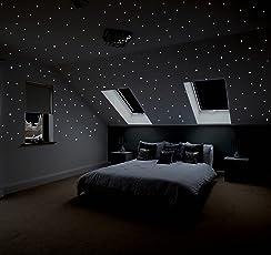 Realistischer Sternenhimmel Zum Kleben Mit über 400 Selbstklebenden,  Fluoreszierenden, Sternen (Leuchtpunkten, Leuchtsternen