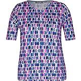 Rabe - Maglietta da donna con stampa allover e scollo rotondo
