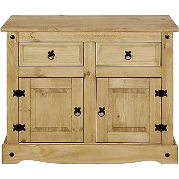 Corona Sideboard, klein, 2 Türen, 2 Schubladen, Kiefer gewachst, 83 ...