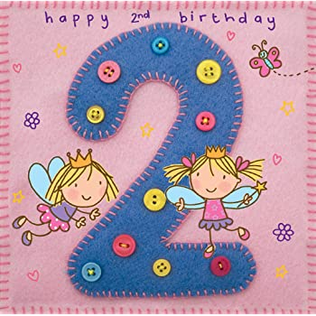 Twizler 2nd Birthday Card For Girl With Fairy Princess And Butterfly