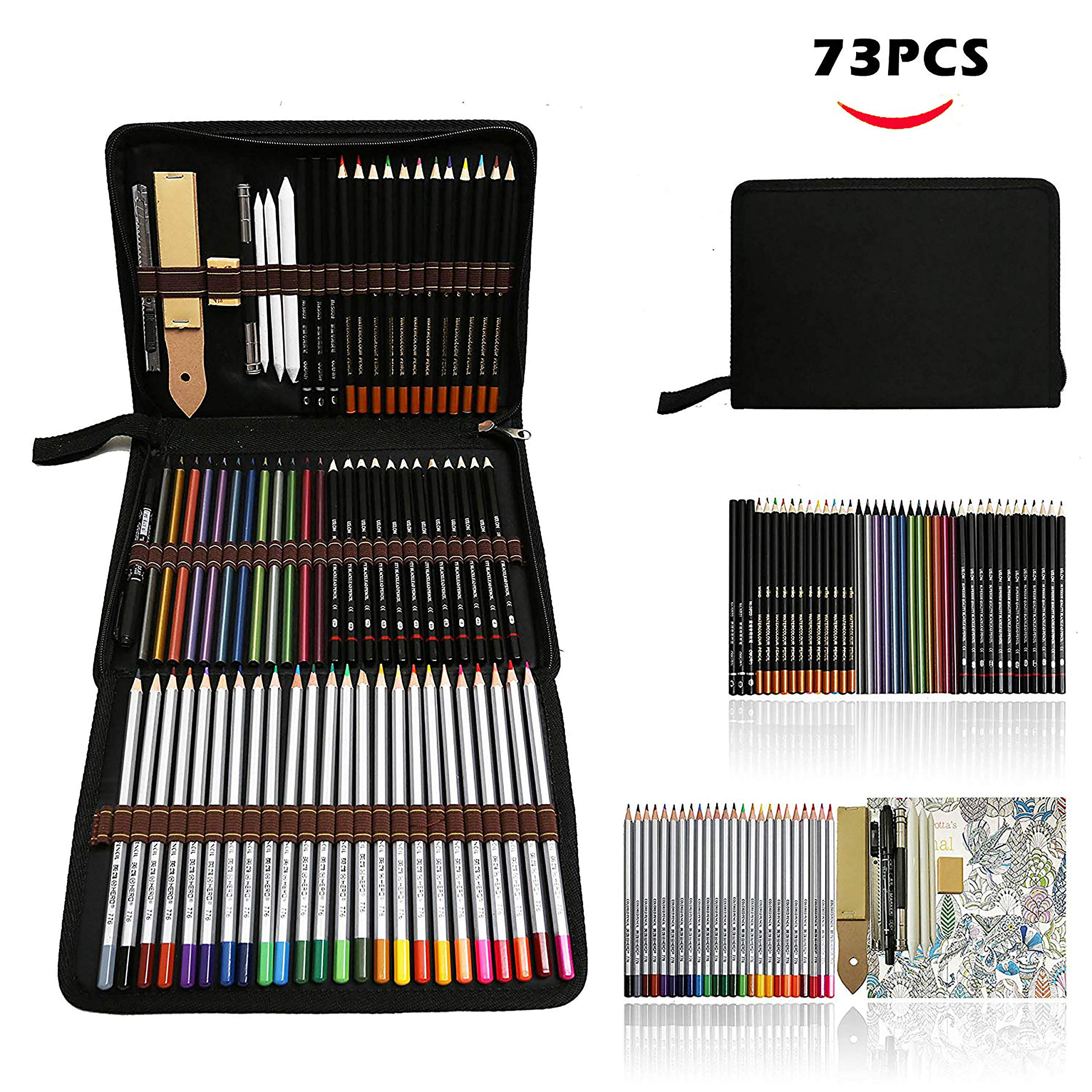 Zzone Matite Colorate Artistico Kit Per Schizzo E Disegno Disegni A