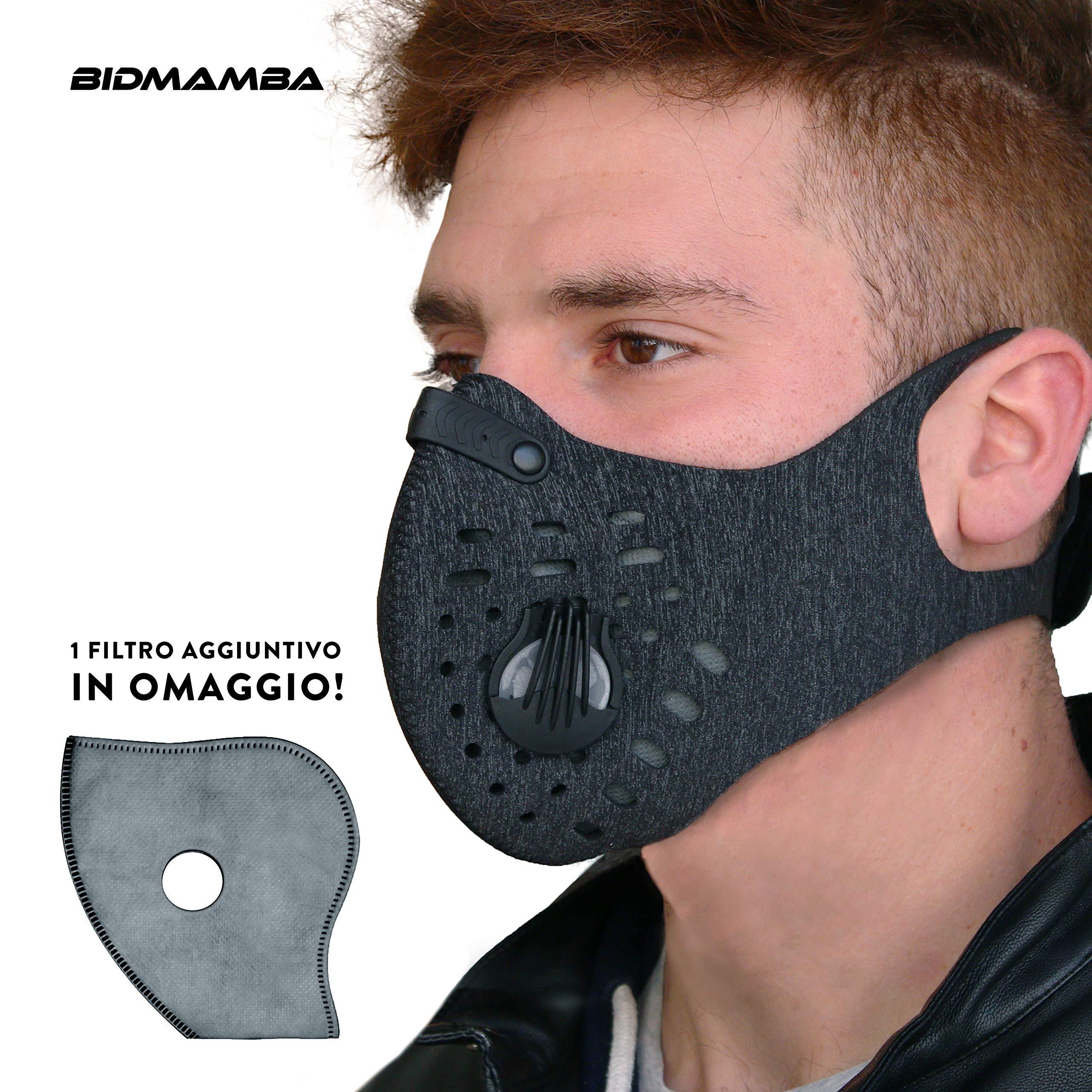 maschera antipolvere bici