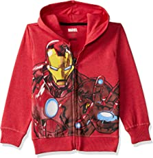 Avengers Kids Boys Red Melange Color Sweatshirt