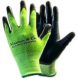 Kramer&Co. Gardening Bamboo Working Gloves for Women & Men. Ultimate Grip and Protection for all Garden Jobs, Heavy Duty Work