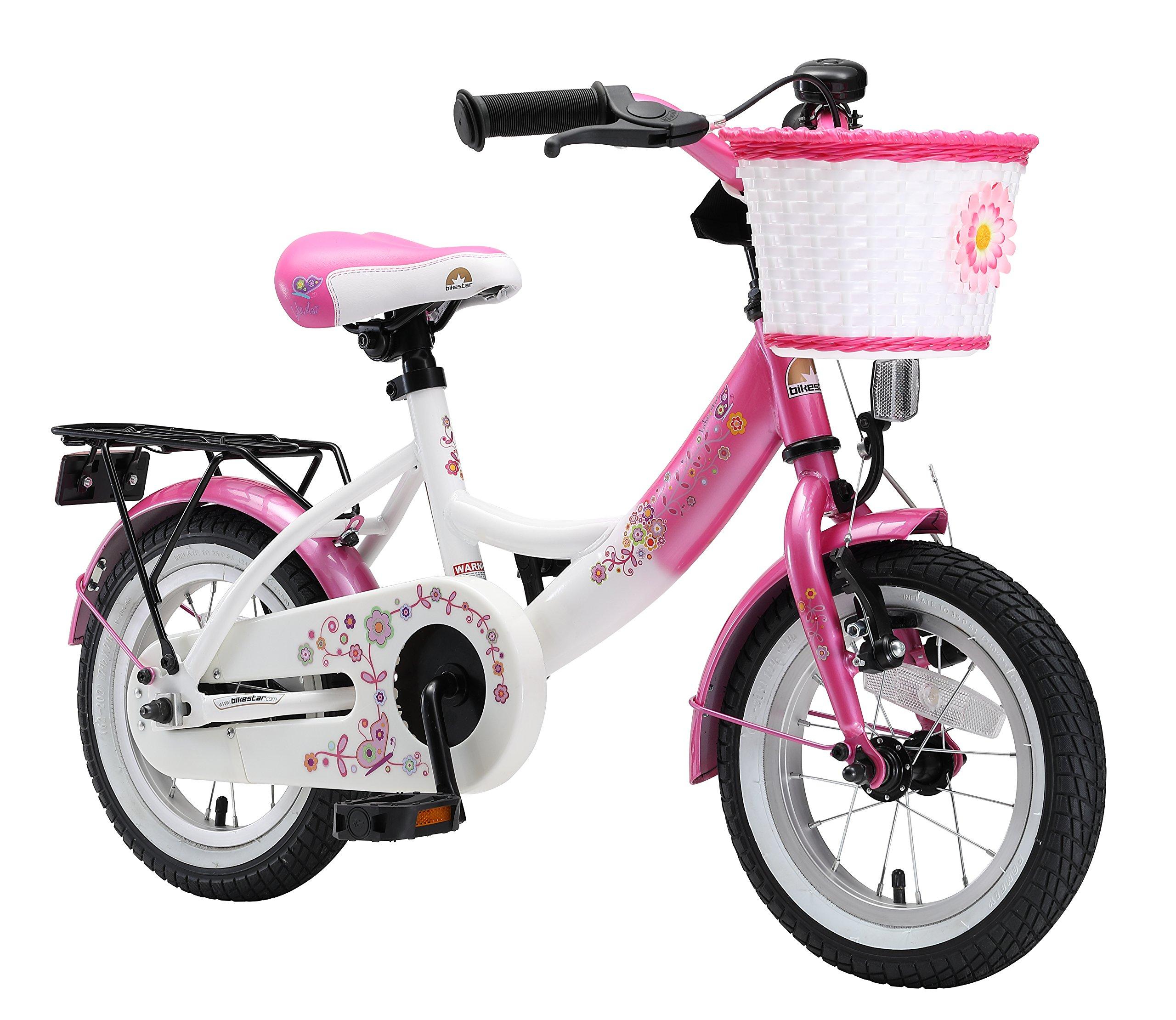BIKESTAR® Premium Bicicletta per Bambini giù 3 anno ? Edizioni 12ª Classico ? Fenicottero Rosa & Dia