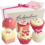 """BRUBAKER Cosmetics 6-delige set badpralines """"Blossom & Hearts"""" handgemaakt en veganistisch"""