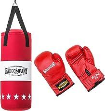 Bad Company Box-Set für Kinder und Jugendliche I Canvas Boxsack, gefüllt - inkl. Aufhängung I 8 oz Boxhandschuhe I 60 x 25cm