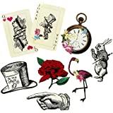 Talking Tables, Set di Decorazioni, Tema Alice nel Paese delle Meraviglie, Ideale per Compleanni, Tea Party, Matrimoni e Fest