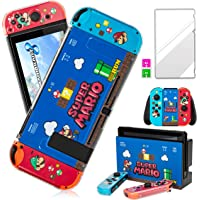 Darrnew Mario Skin per Nintendo Switch Cartoon Cute Fun Skins, Kawaii Unique Kids Girls Women Switch Game Sticker…