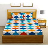 Fab Theory Block Floors 144 TC 100% Cotton Double Bedsheet with 2 Pillow Covers, Multicolour