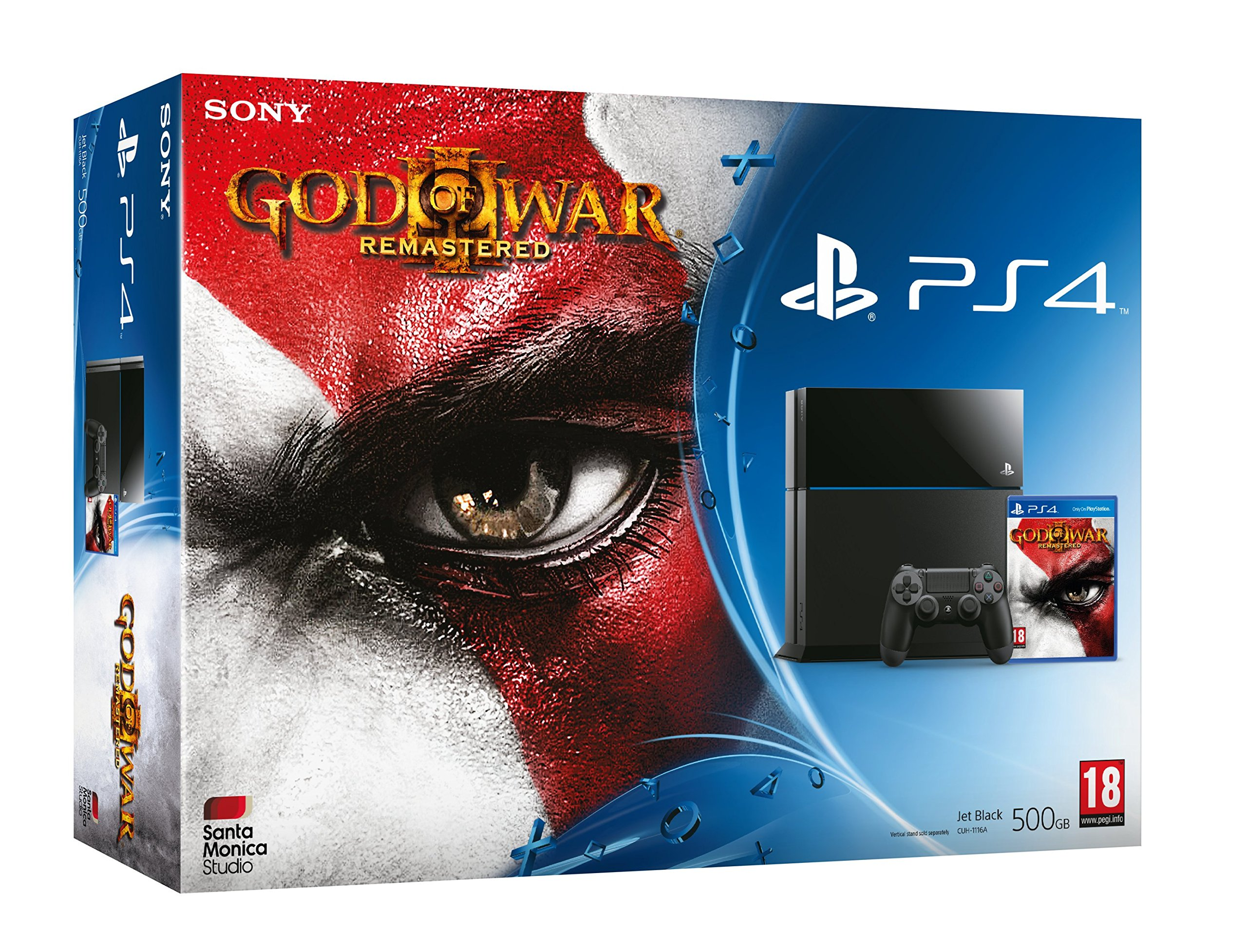 PlayStation 4: Console 500GB B Chassis + God Of War III