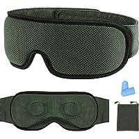 Schlafmaske, Schlafbrille 3D Konturen Design Schlafmaske für Herren und Frauen 100% Lichtschutz Verstellbare…