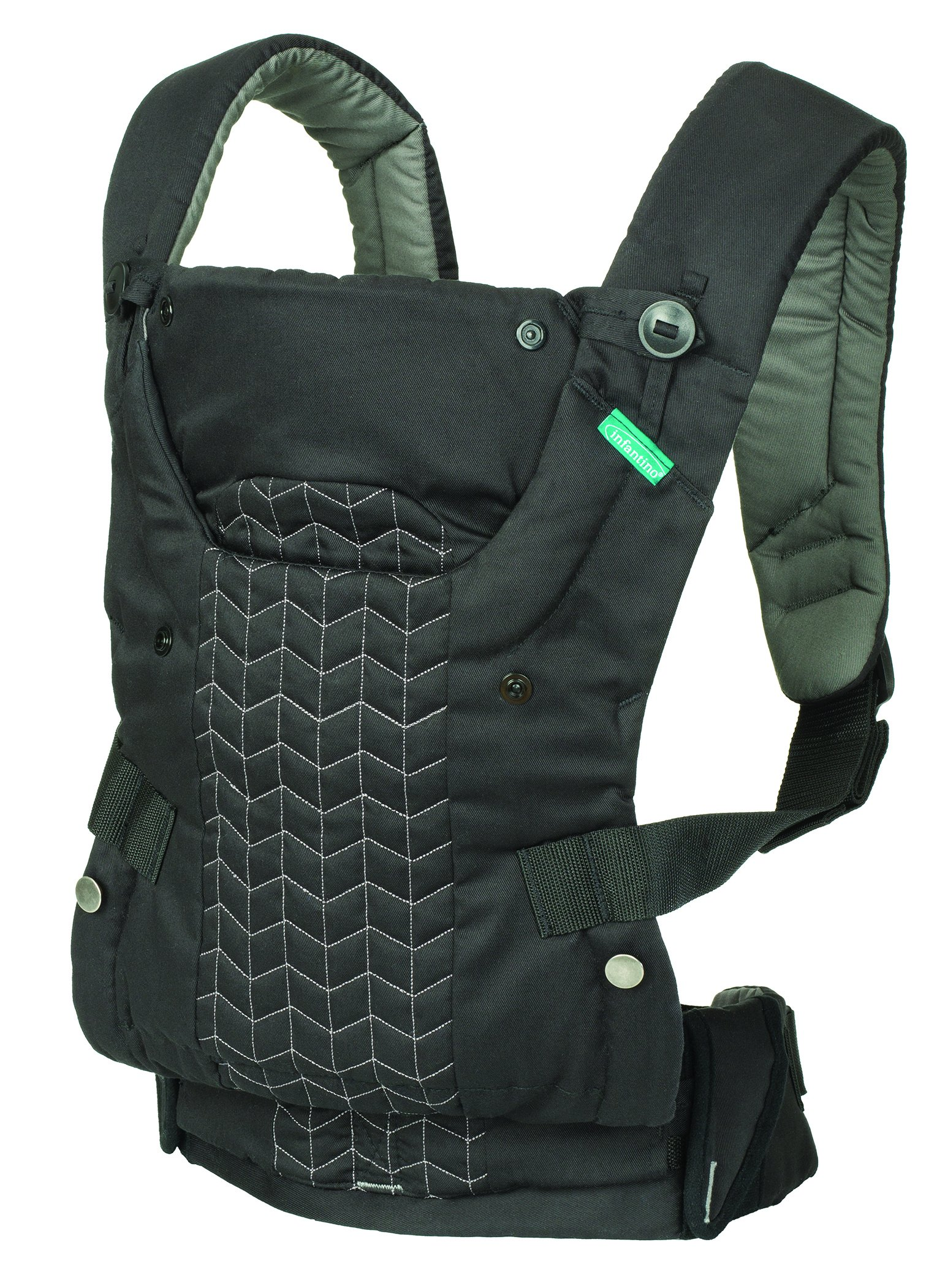 Infantino Upscale Carrier, Black, One Size Infantino Fully safety tested 4 way carrier Facing in newborn & m position 1