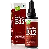 Bioactive Liquid Vitamin B12 Methylcobalamin Plus Adenosylcobalamin (50ml) 2,400 mcg (High Strength) Vegan Energy…