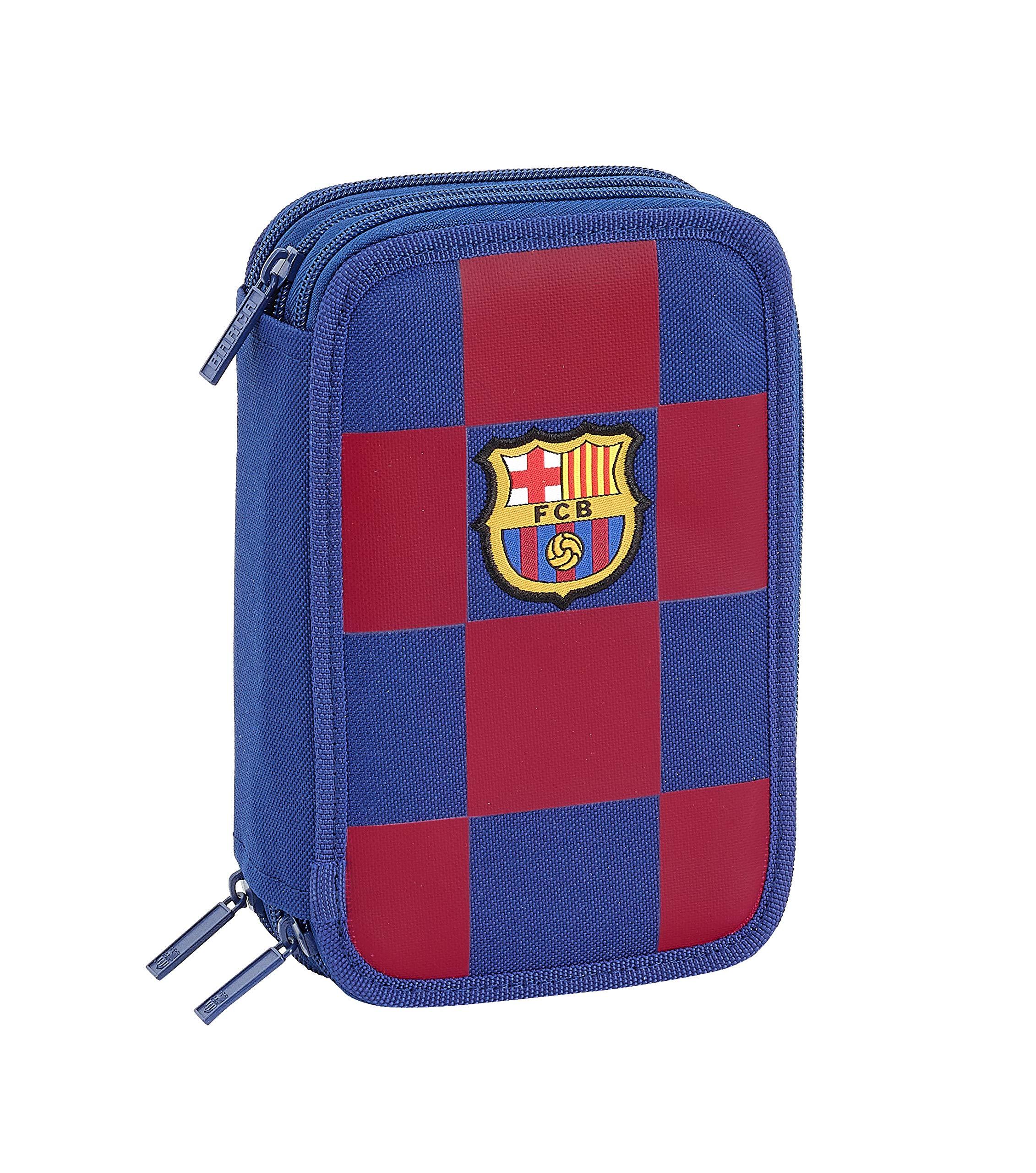 FC Barcelona Plumier Triple Estuche con 41 Piezas