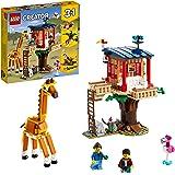 LEGO31116Creator3-in-1SafariBoomhut,Catamaran enDubbeldekker, SpeelgoedBouwsetvoor Kinderen van 7 Jaar en Ouder