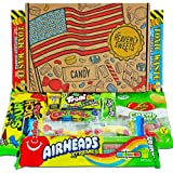 Heavenly Sweets® American Sour Sweets Candy Gift Box – Classic Retro USA Treats - Perfect Gift Hamper for Children, Adults, B