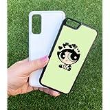The Powerpuff Girls Blossom Green Case Personalised Name Harajuku Aesthetic Date Cute Custom Text Black White Kawaii tpu…