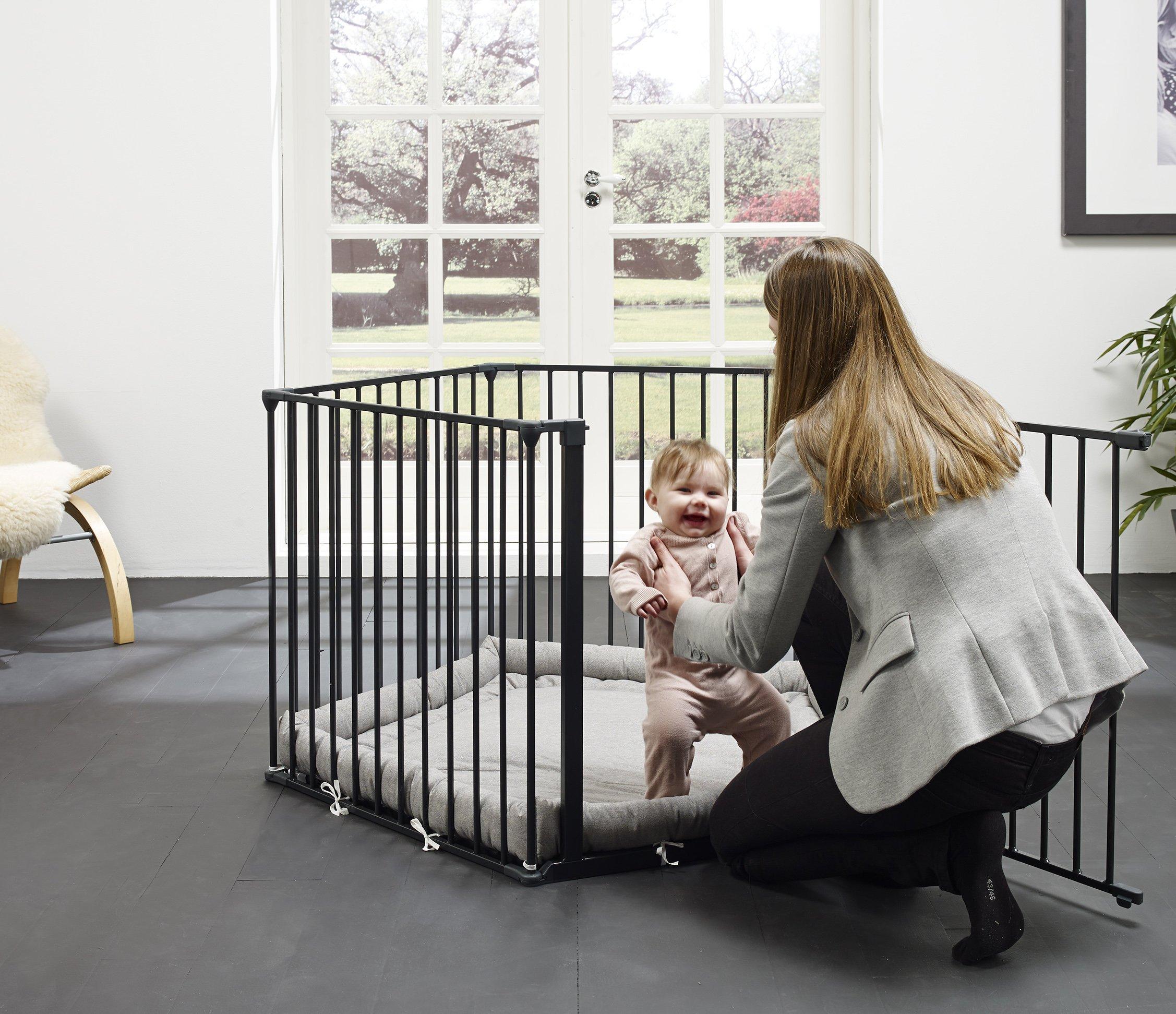 BabyDan 67116-10600-1300-10-88 Flex Playpen Black BabyDan  3