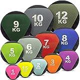 Medizinball farbig - Gummimedizinball in 1 kg, 1,5kg, 2kg, 3kg, 4kg, 5kg, 6kg, 7kg, 8kg, 9kg, 10kg, 12kg Gewichtsball…