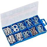 Connex Schroefhaken assortiment 78-delig - Diverse haken & pluggen in een set - voorgesorteerd in praktische kunststof doos -